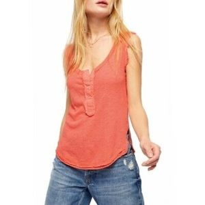 Free People Vacay Tank Top in Coral